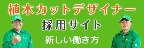 植木カットデザイナー採用サイト